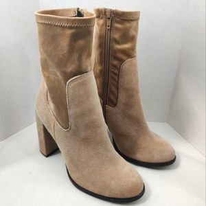 CHINESE LAUNDRY Capricorn Sock Suede Tan Bootie